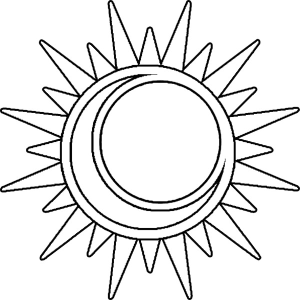 sun and moon coloring pages # 80