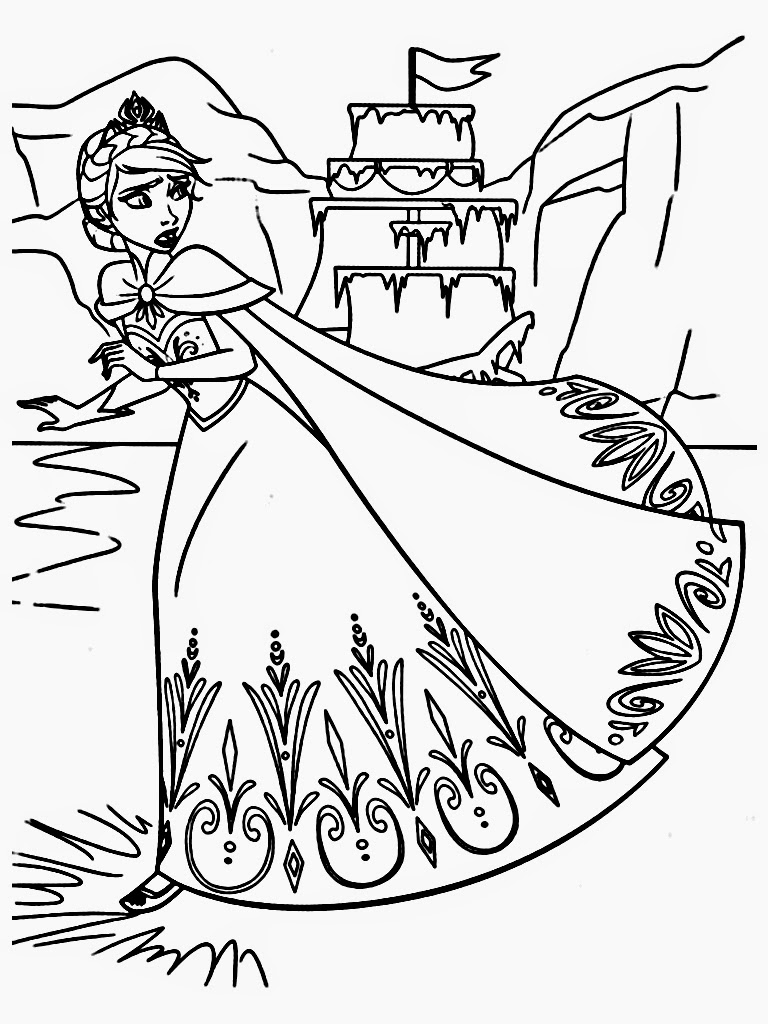 Free Printable Frozen Coloring Pages For Kids Best Coloring Pages For Kids