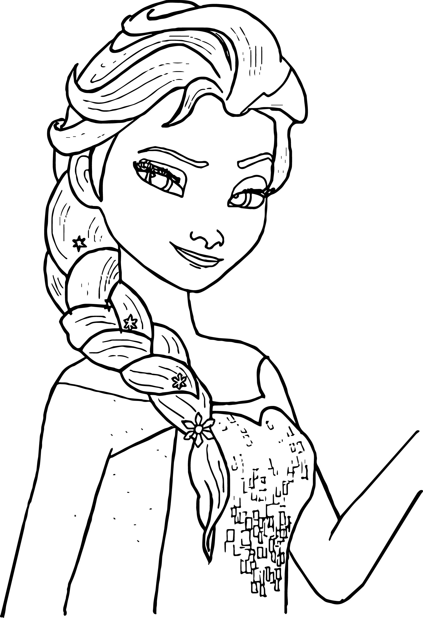 Elsa Coloring Pages Easy Coloring Coloring Pages