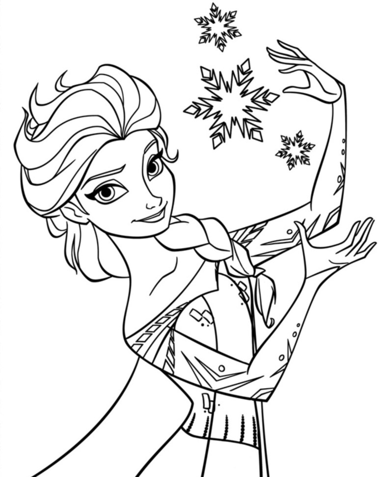 Free Printable Elsa Coloring Pages for Kids - Best ... | printable colouring pages