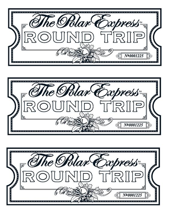 Polar Express Ticket Template Free