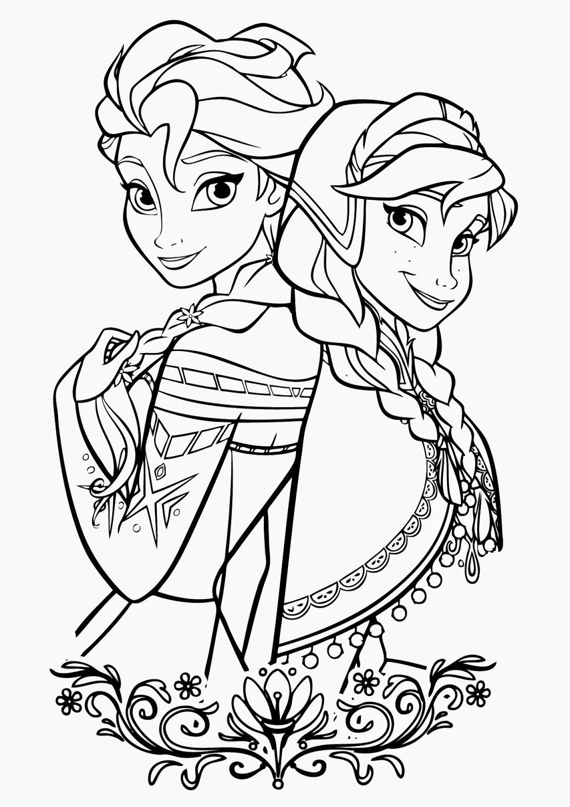Free Printable Elsa Coloring Pages for Kids - Best ... | free printable colouring pages