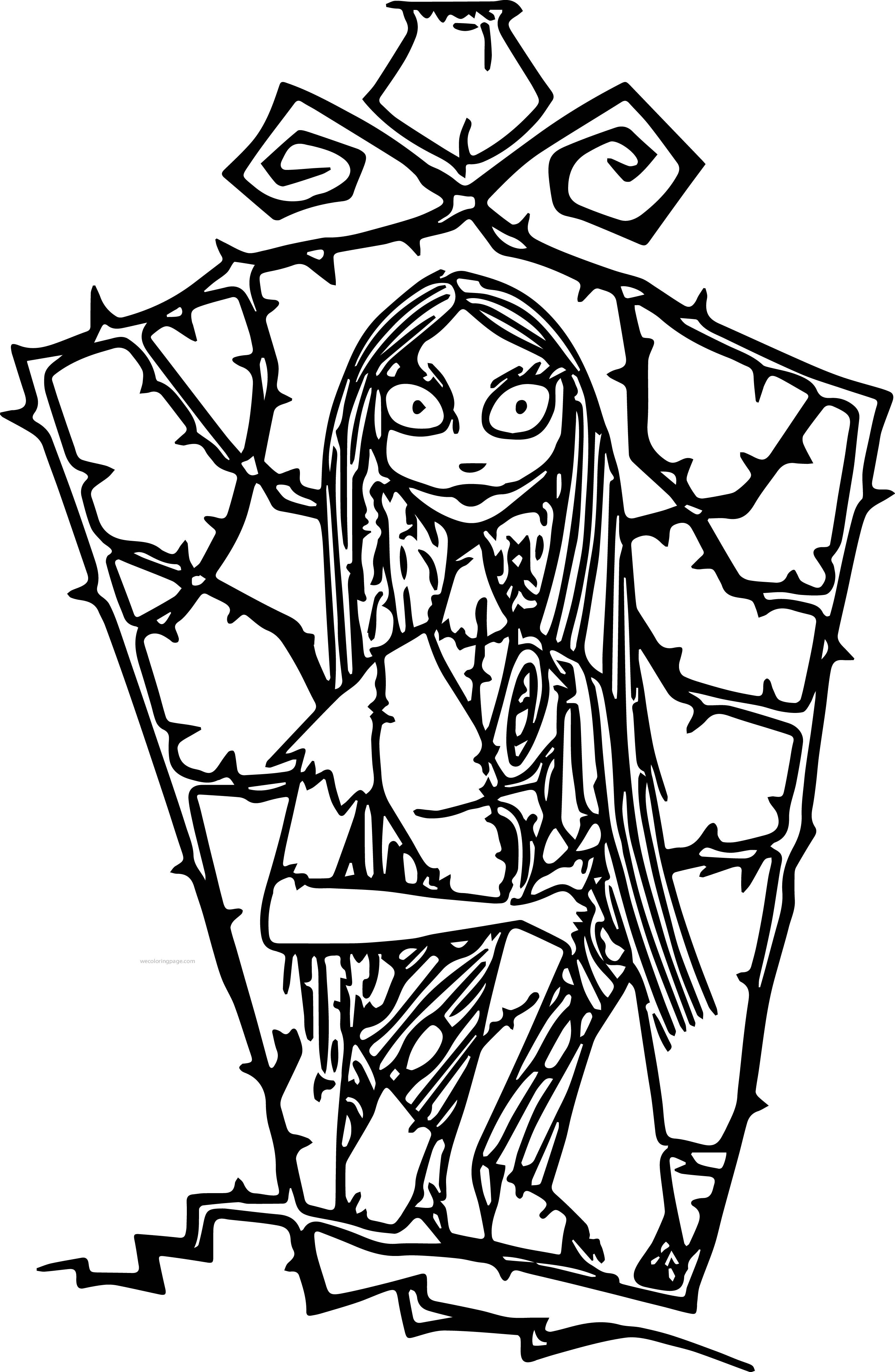 Disney Nightmare Before Christmas Coloring Pages Coloring Page