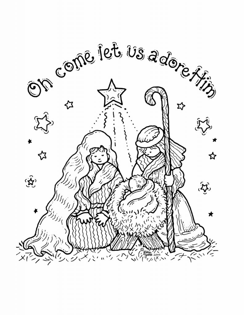 Nativity Coloring Book Coloring Page