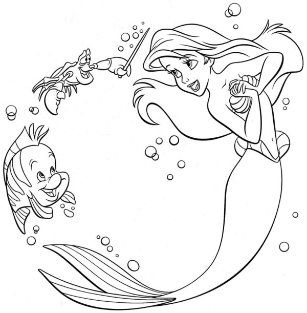 coloring pages of ariel # 10