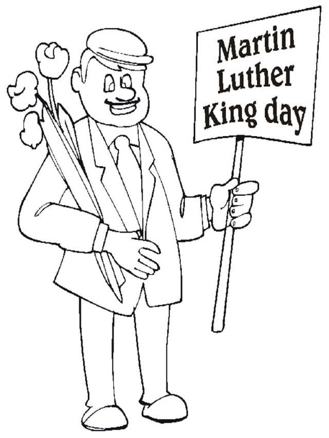 Martin Luther King Jr Coloring Pages and Worksheets - Best