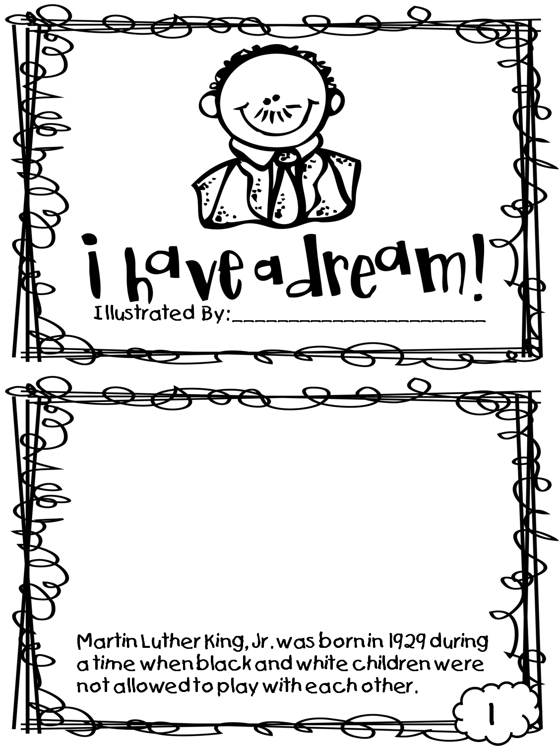 Mlk Day Coloring Sheets