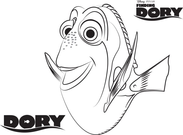 finding nemo coloring page # 35