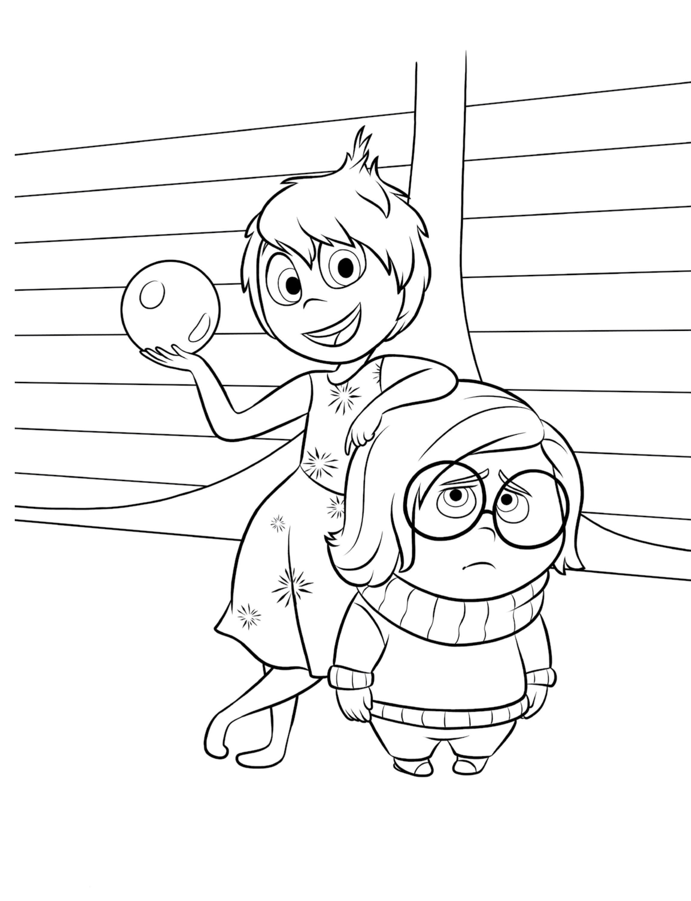 Inside Out Coloring Pages