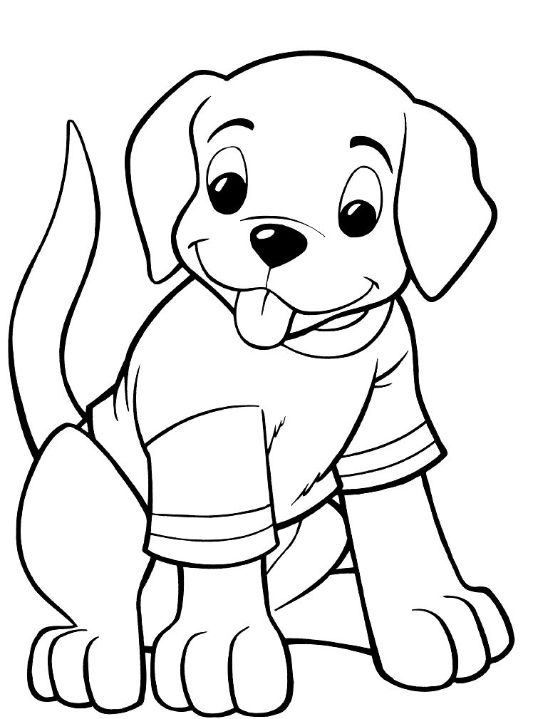 Puppy Coloring Pages - Best Coloring Pages For Kids | colouring pages for toddlers