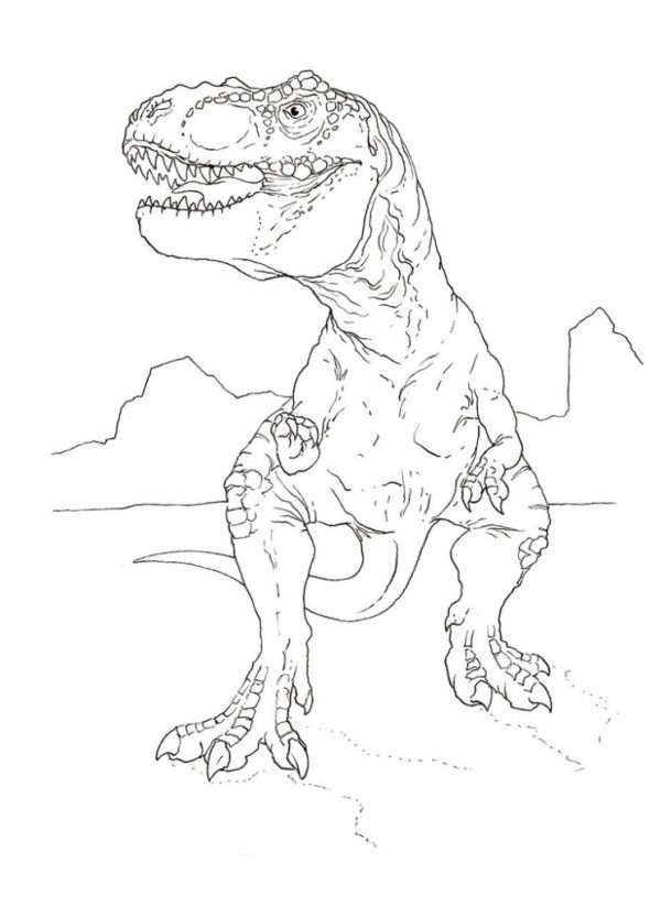 trex coloring page # 3