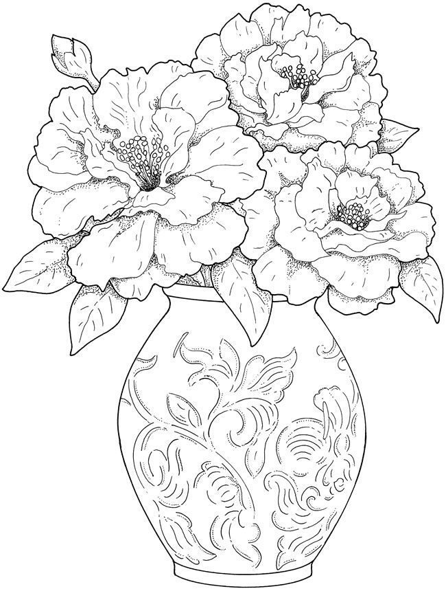 Flower Coloring Pages for Adults - Best Coloring Pages For ... | flower coloring pages for adults
