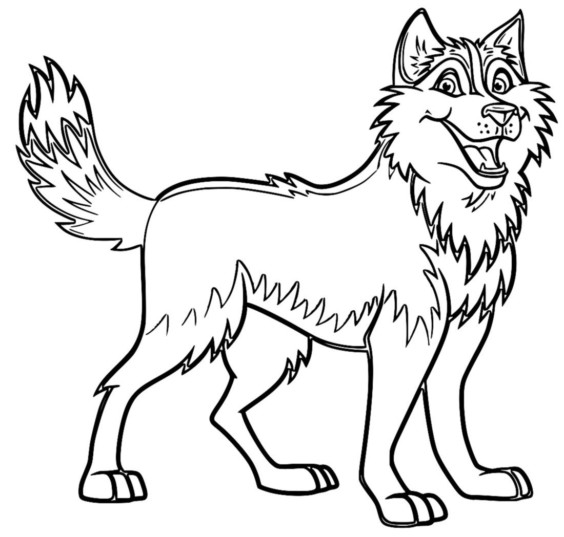 Husky Coloring Pages