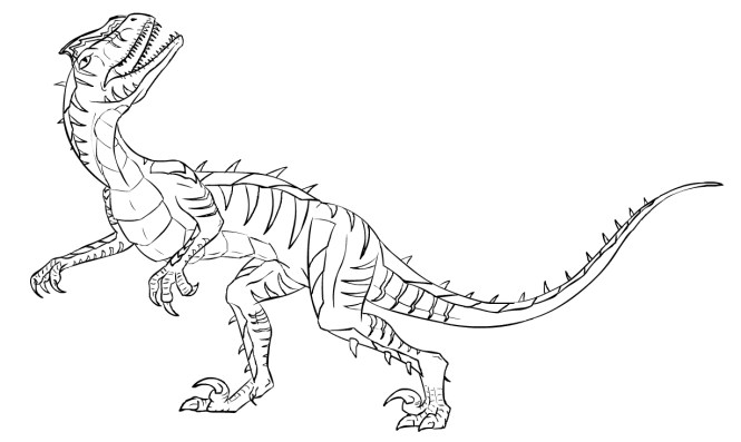 velociraptor coloring pages best for kids - Velociraptor Coloring Page