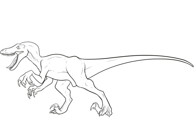 Raptor blue coloring pages