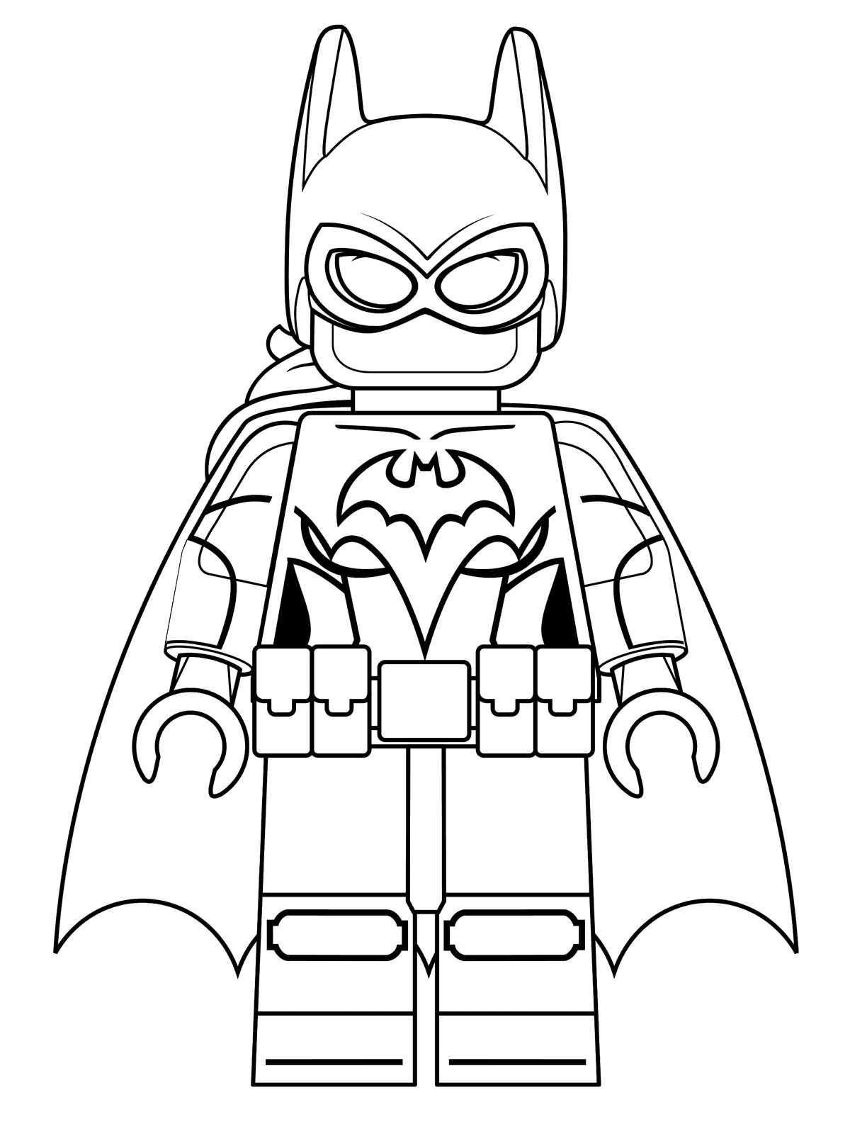 Lego Batman Coloring Pages