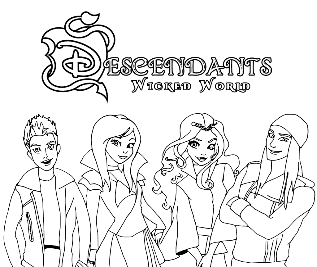 Descendants Coloring Pages