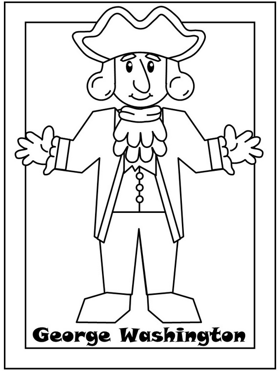 And Abe Lincoln George Washington Kindergarten Drawing
