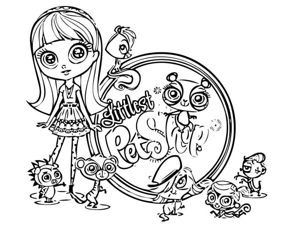 littlest pet shop coloring page # 8