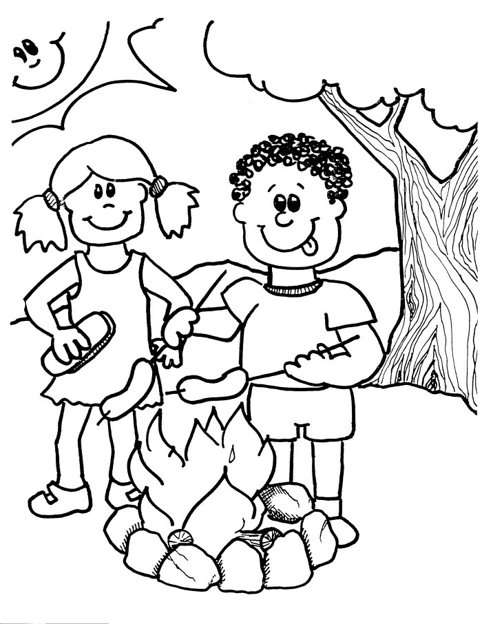 Camping Coloring Pages Best Coloring Pages For Kids