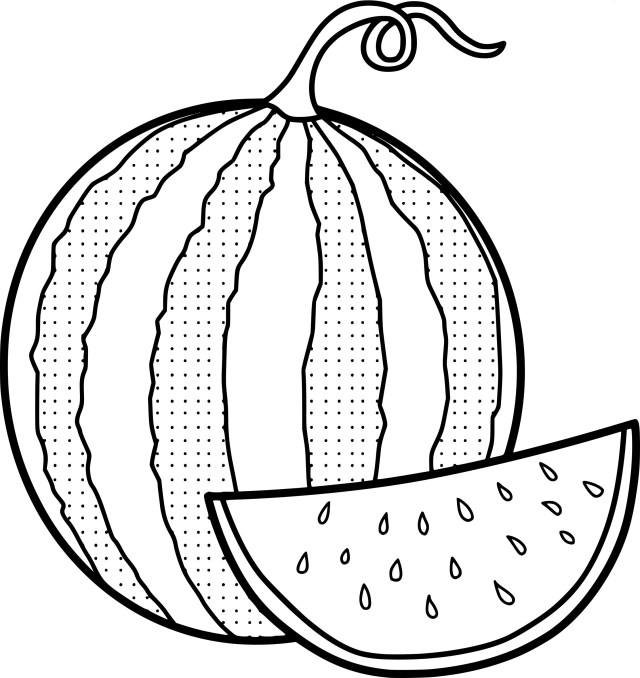 Watermelon Coloring Pages - Best Coloring Pages For Kids