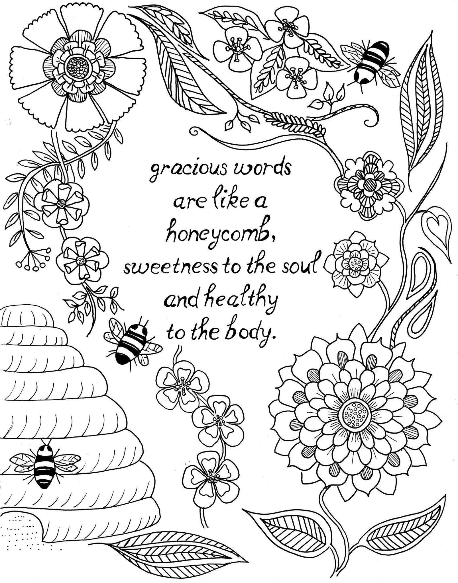 Quote Coloring Pages for Adults and Teens - Best Coloring ... | free online coloring pages for adults quotes
