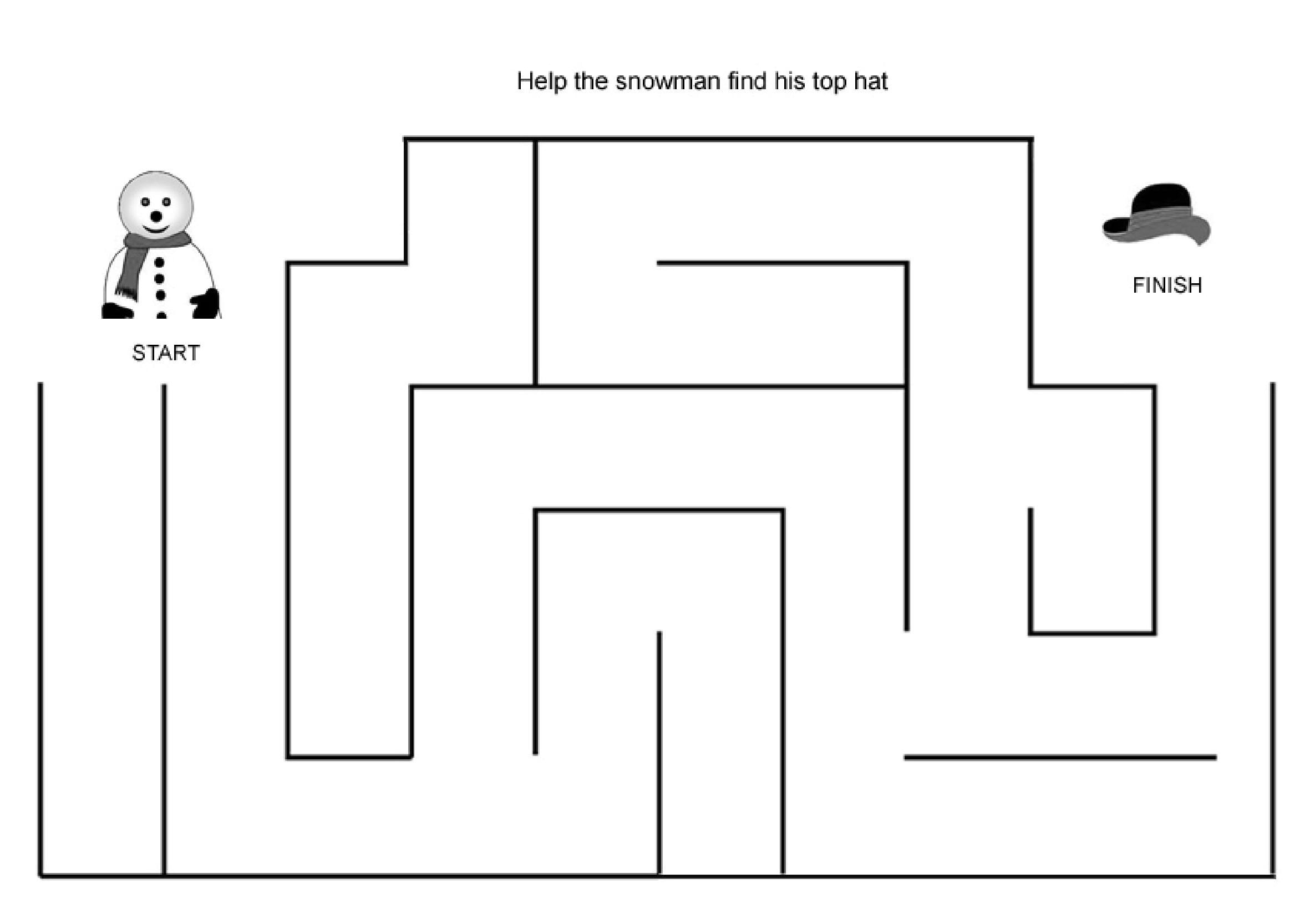Easy Mazes Printable Mazes For Kids
