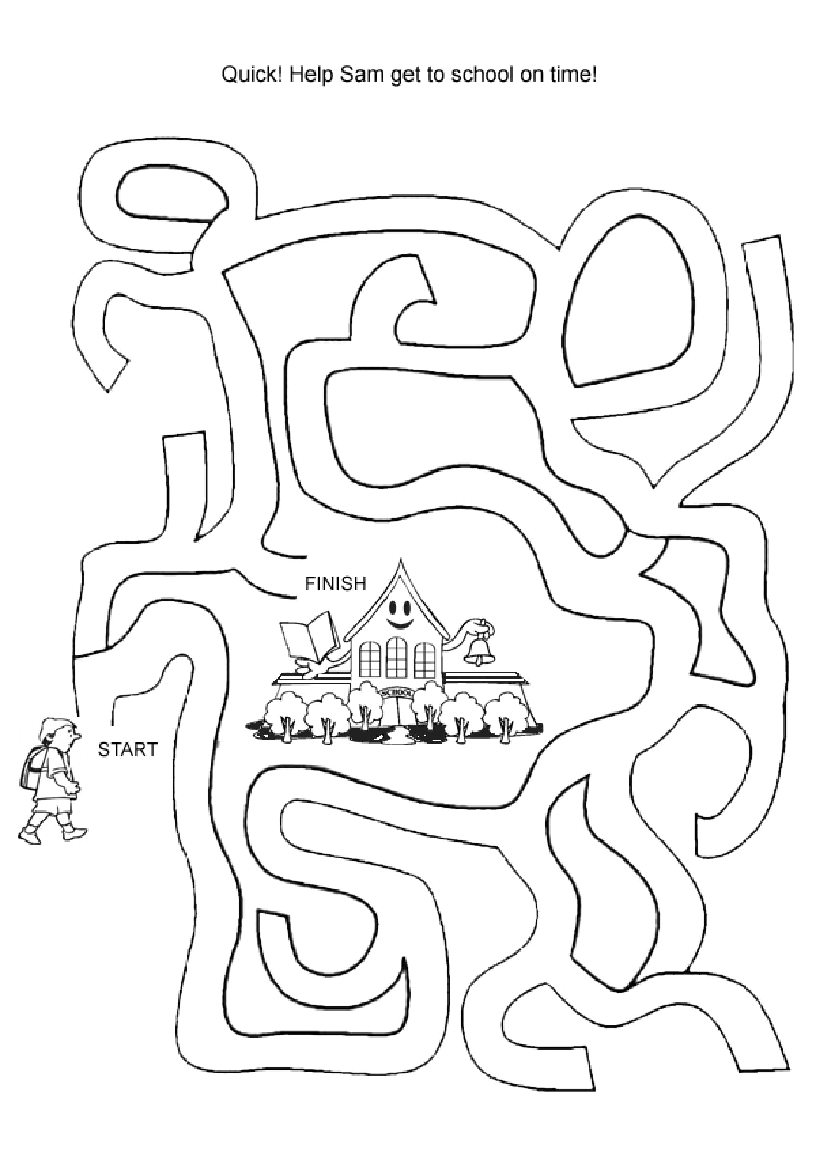 Easy Mazes Printable Mazes For Kids