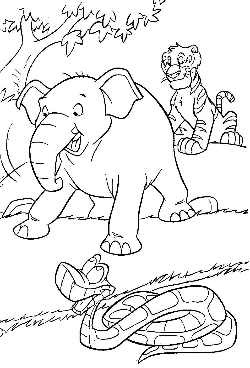 Jungle Coloring Pages - Best Coloring Pages For Kids | free printable coloring pages jungle animals