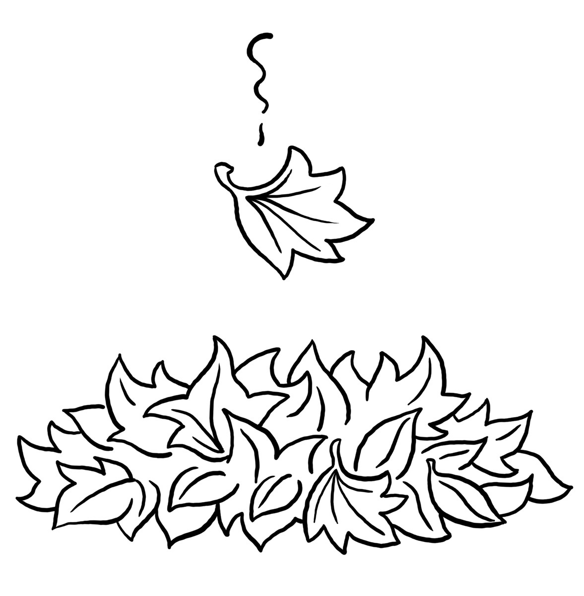 Fall Leaves Coloring Pages