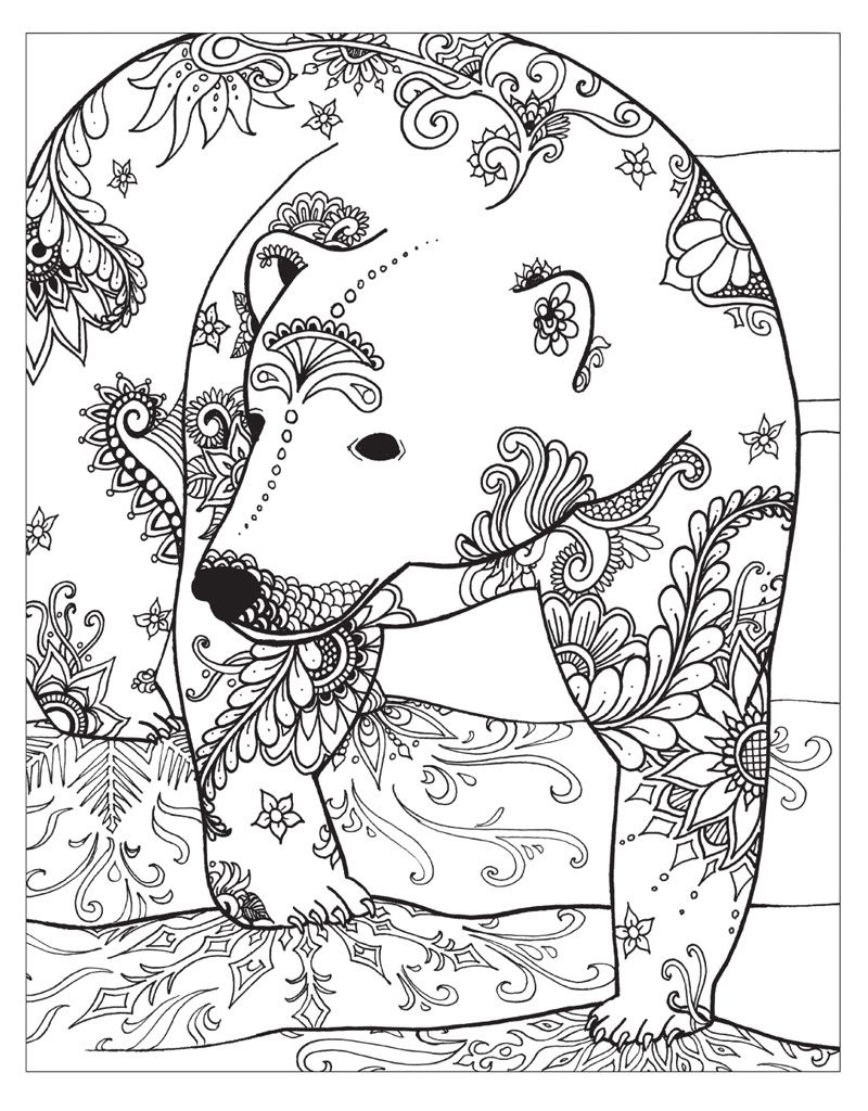Winter Coloring Pages for Adults - Best Coloring Pages For ... | winter coloring pages for adults