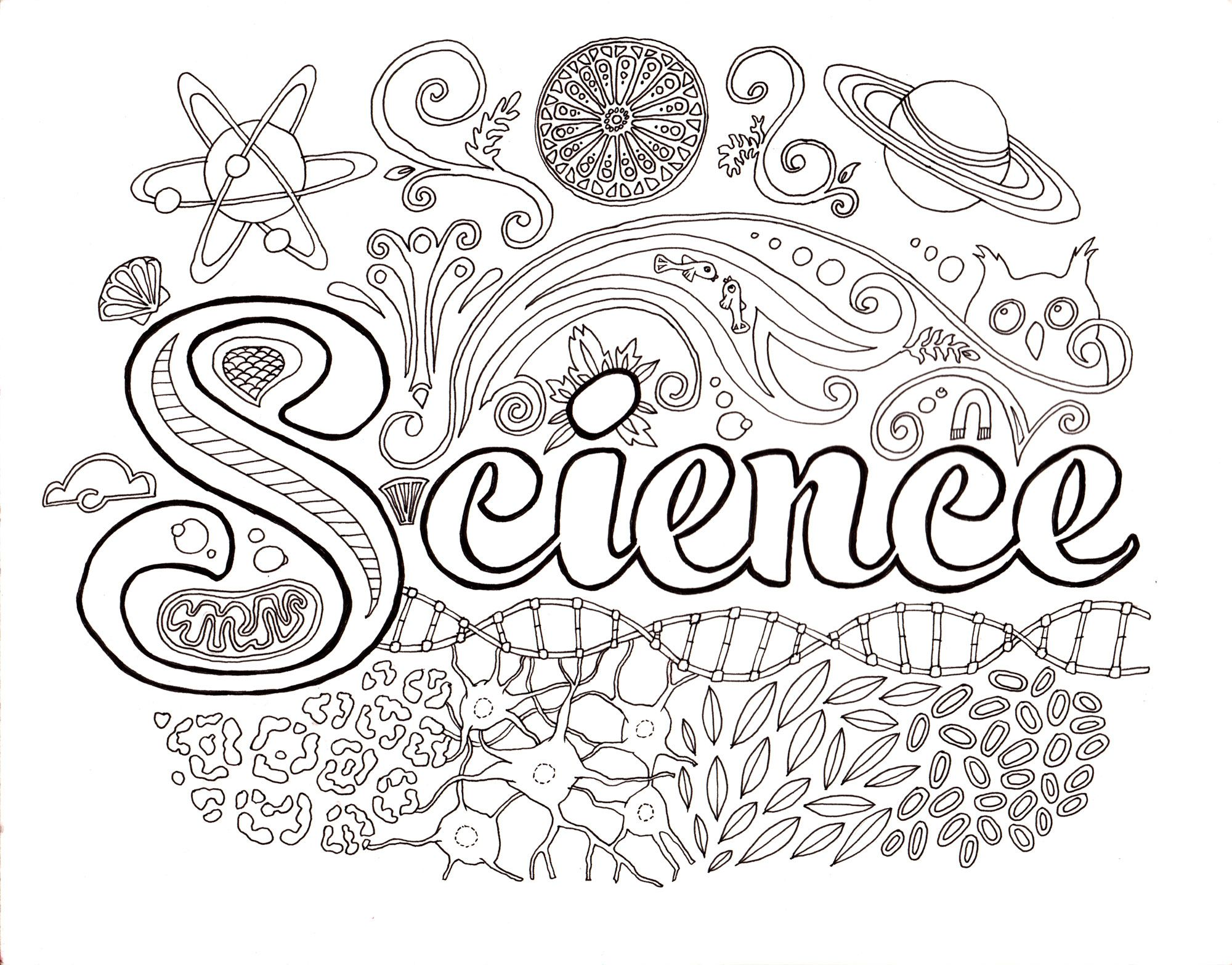 Science Coloring Pages