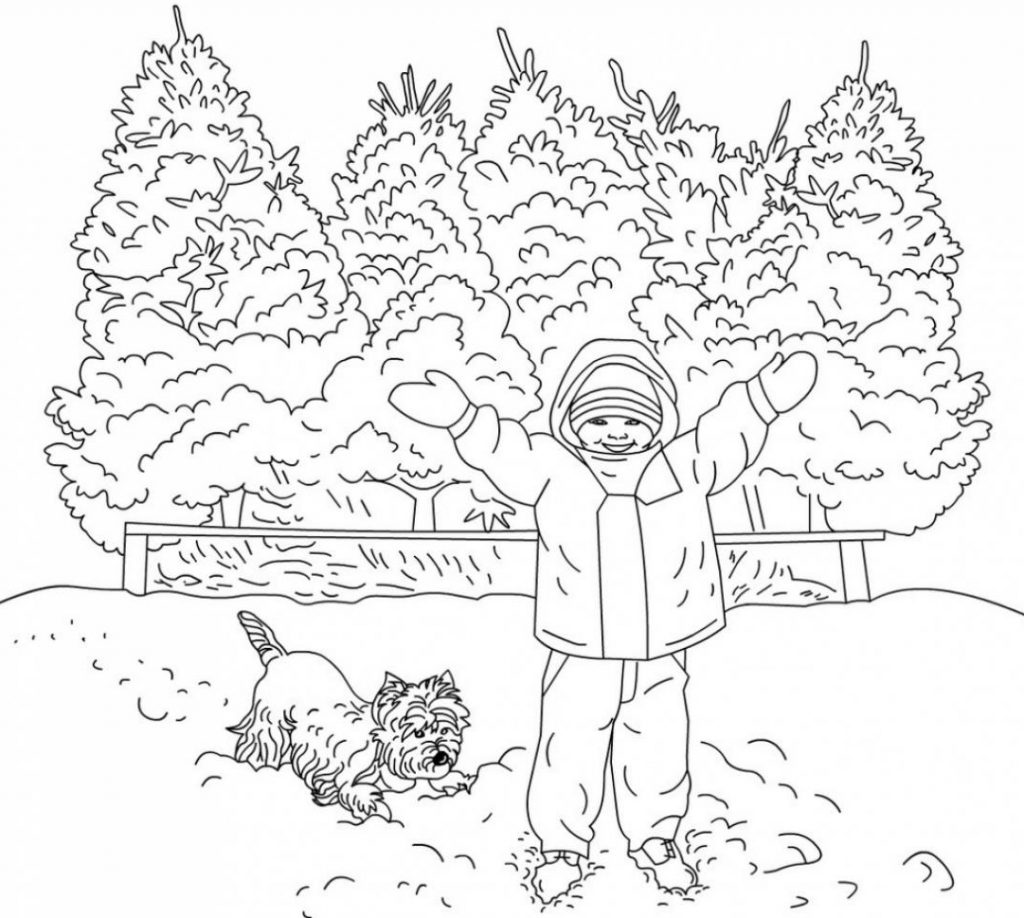 Winter Coloring Pages for Adults - Best Coloring Pages For ...   winter coloring pages adults