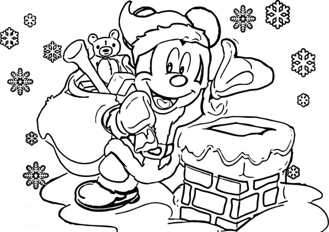 Mickey Mouse Christmas Coloring Pages - Best Coloring Pages For Kids