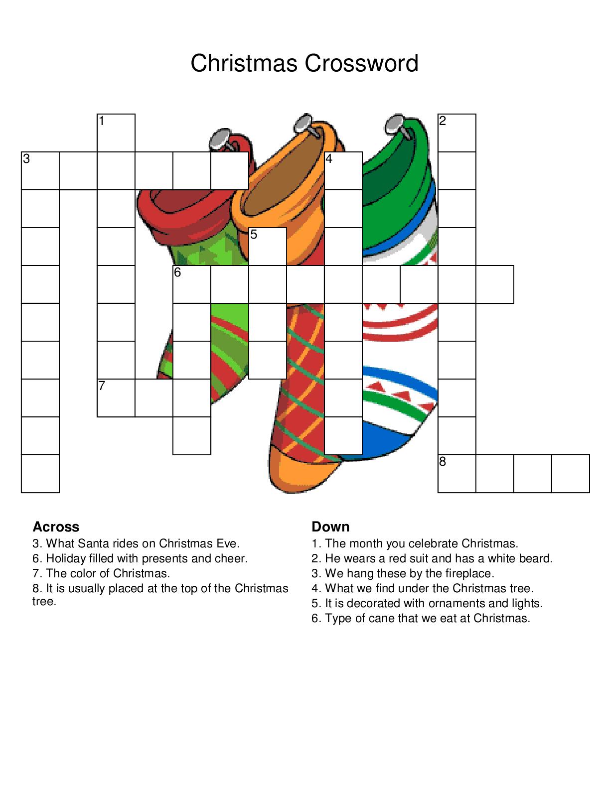 Christmas Crossword Puzzles