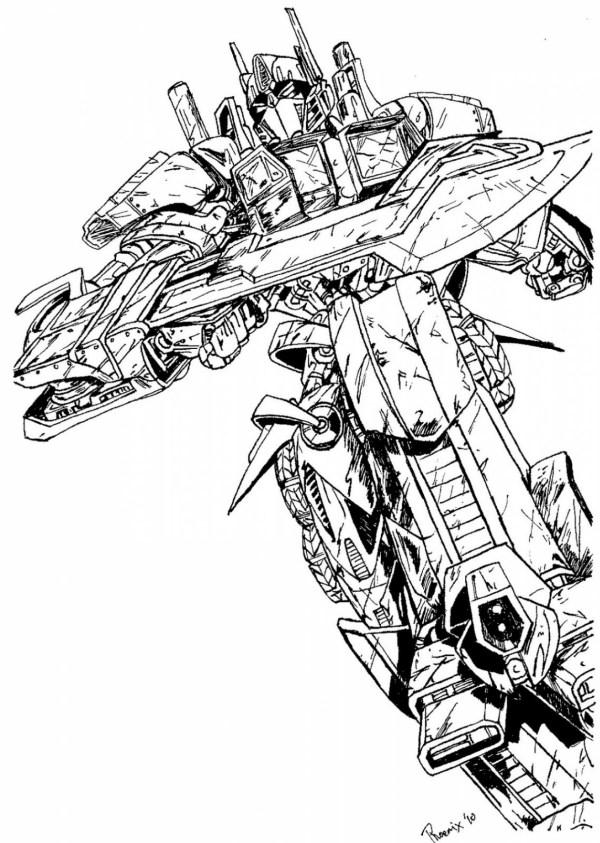 transformers prime coloring pages # 14