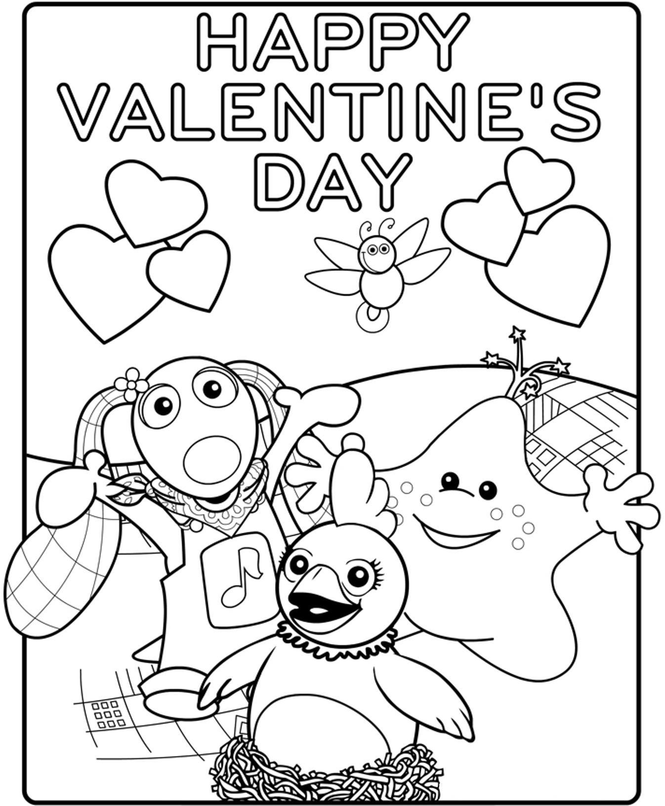 Free Printable Coloring Pages Valentine Cards