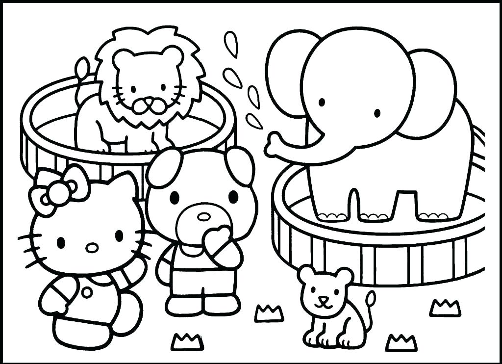 Zoo Animals Coloring Pages - Best Coloring Pages For Kids | animal coloring pages for toddlers