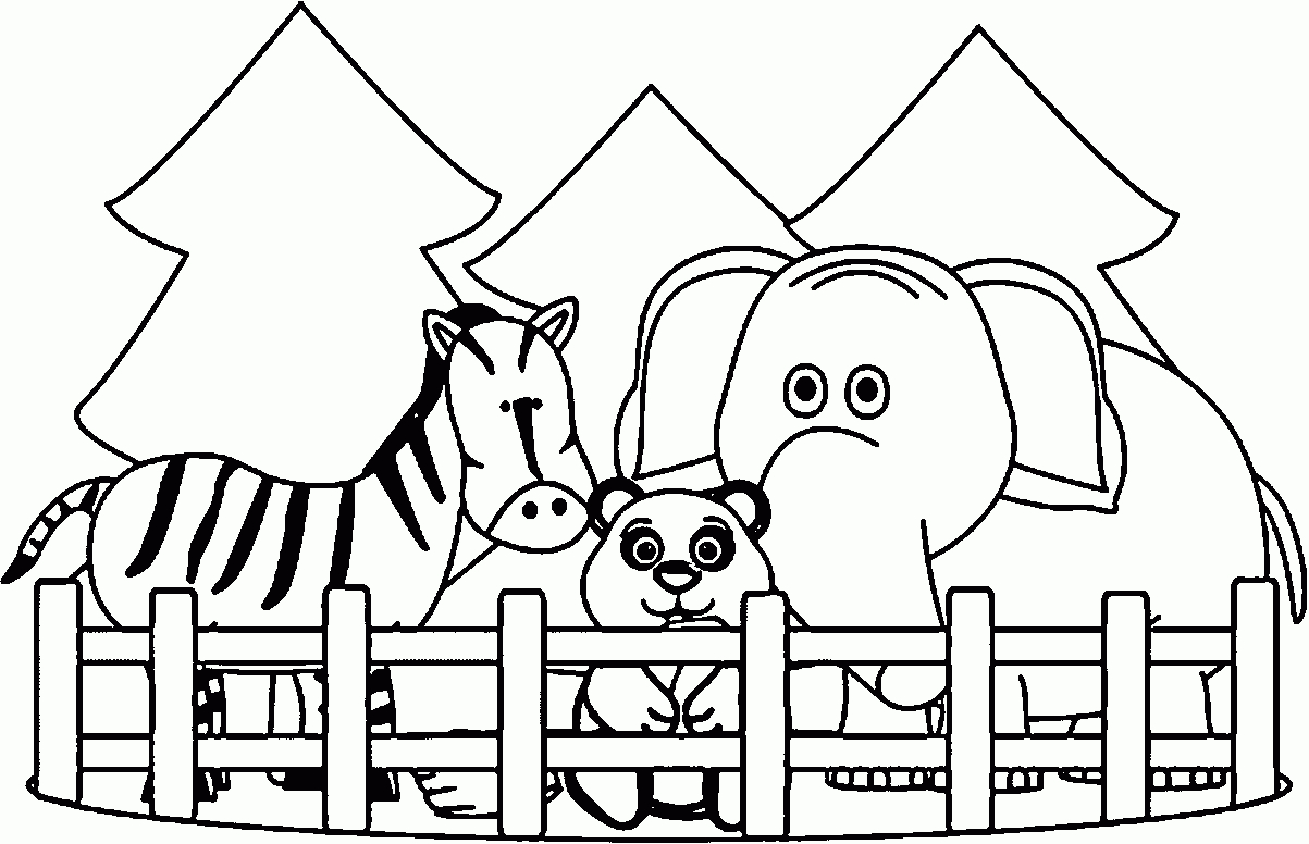 Zoo Animals Coloring Pages - Best Coloring Pages For Kids   colouring pages for zoo animals