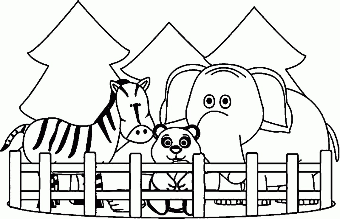 Zoo Animals Coloring Pages - Best Coloring Pages For Kids | free printable colouring pages zoo animals