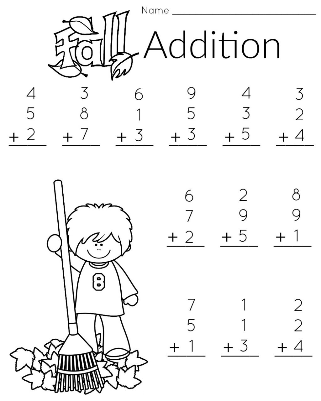 Math Games Kindergarten Worksheet