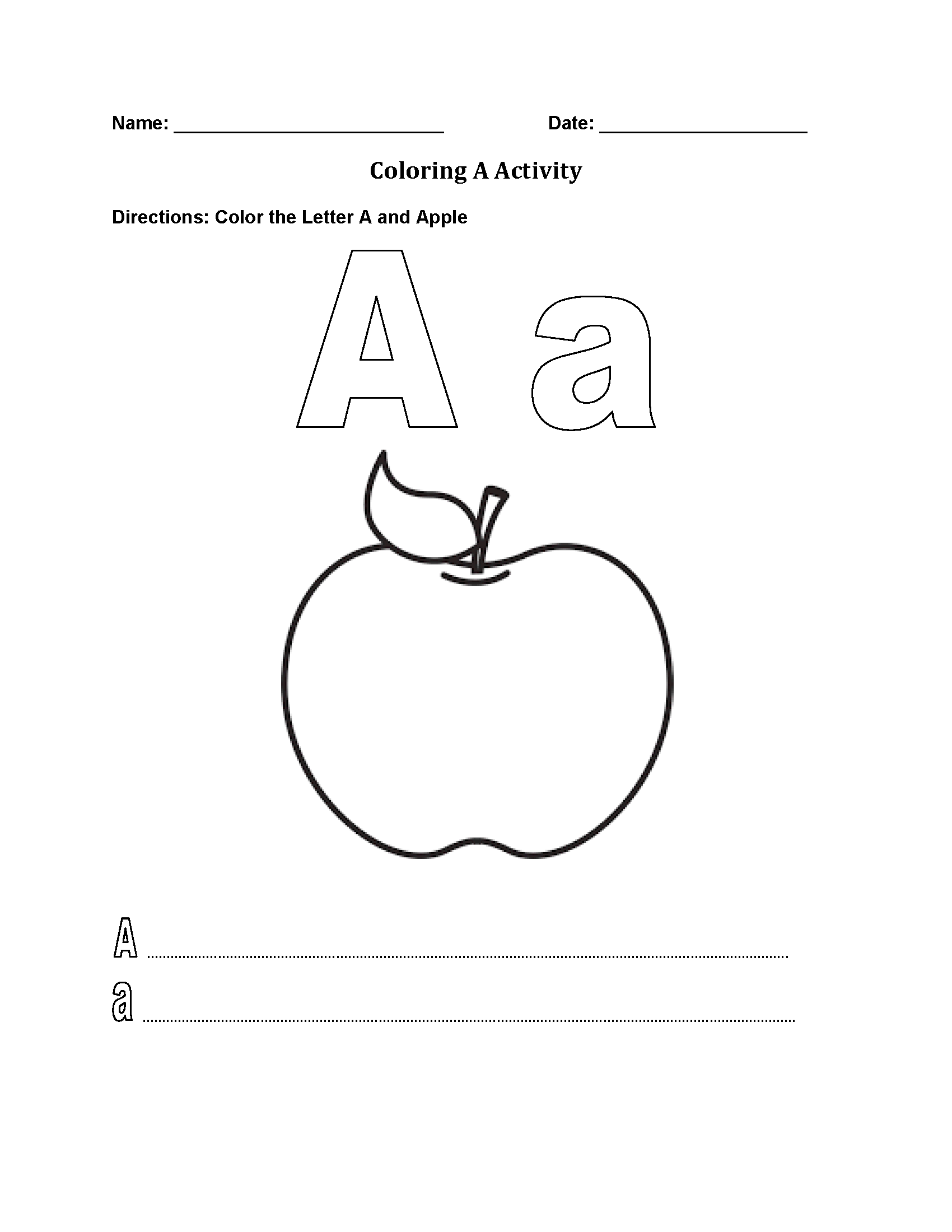 Best Alphabet Worksheet Letter A Alphabet Worksheet