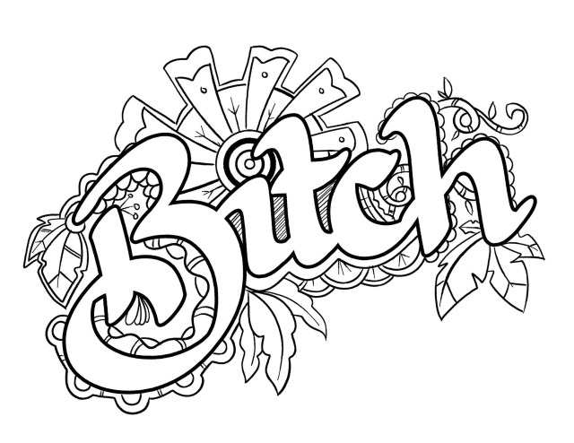 Swear Word Coloring Pages - Best Coloring Pages For Kids