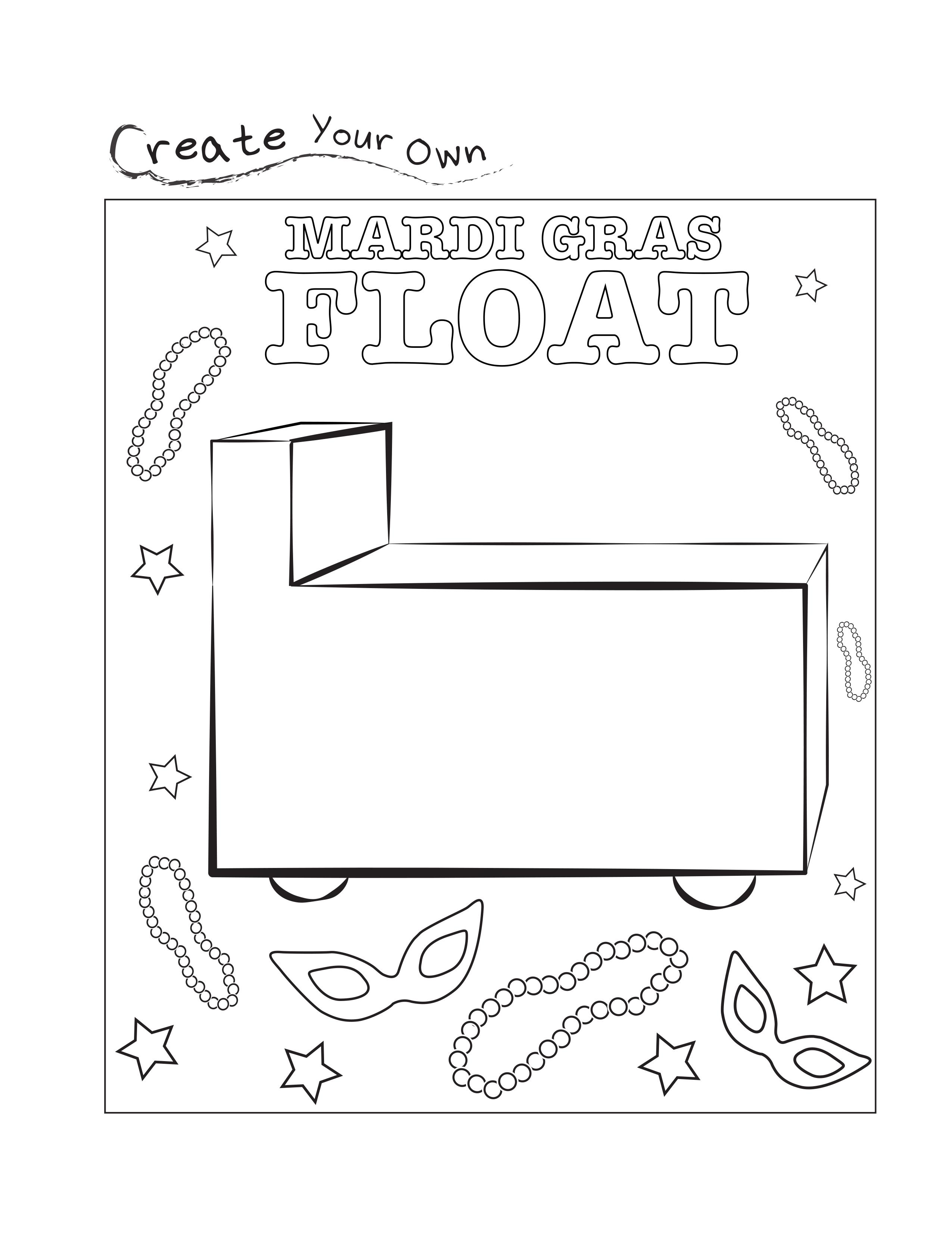 Mardi Gras Worksheets Free