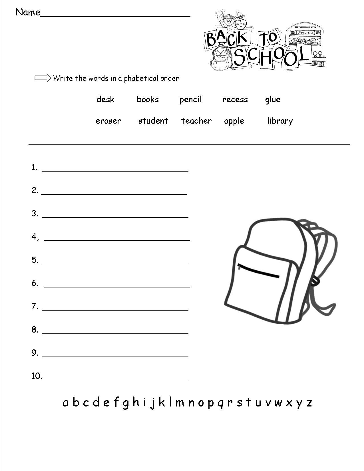 1st Grade Worksheets