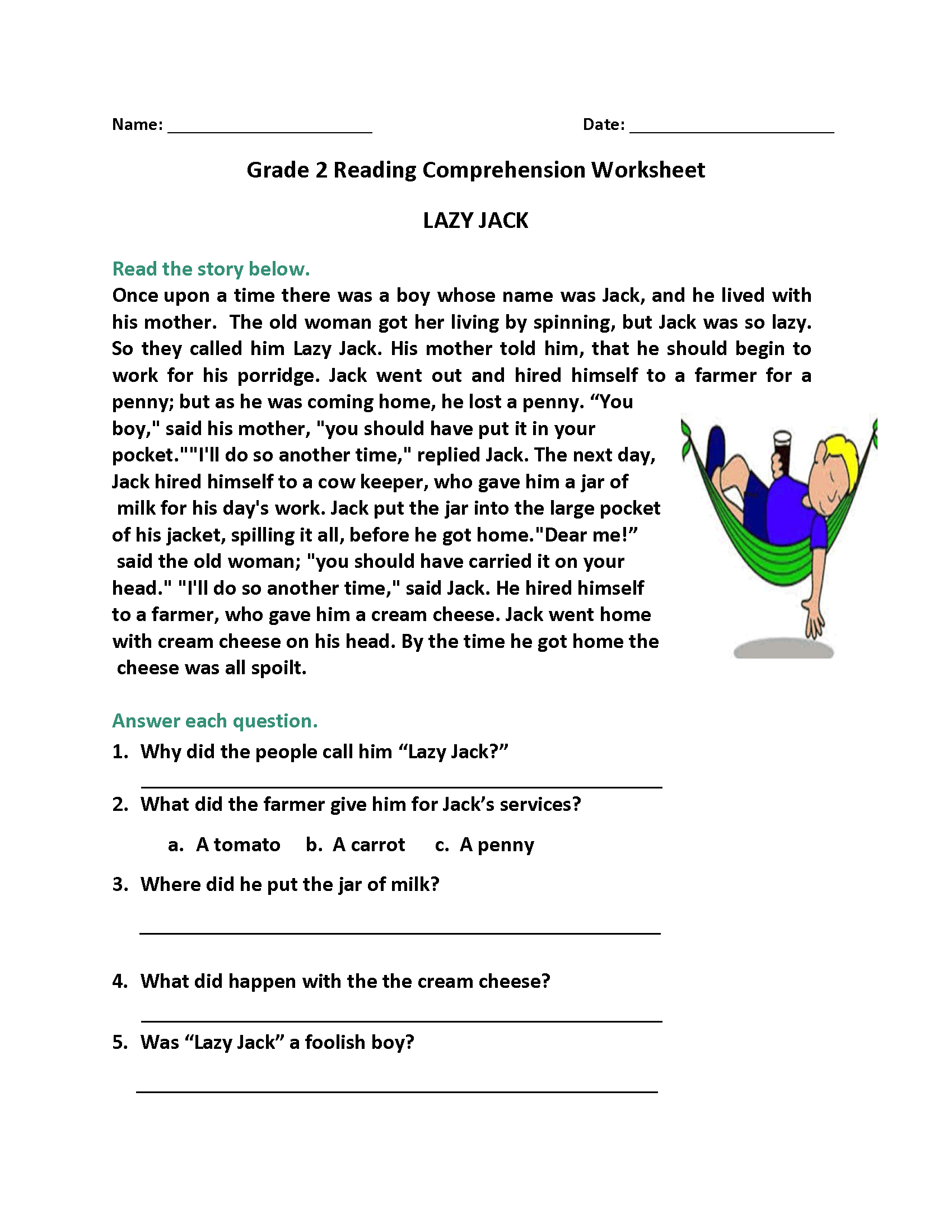 Fun Library Worksheet For 3rd Grade