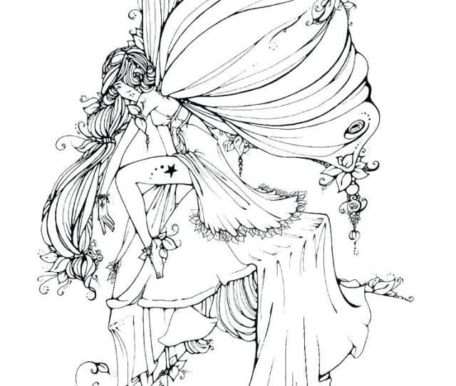 Fairy Coloring Pages For Adults Best Coloring Pages For Kids