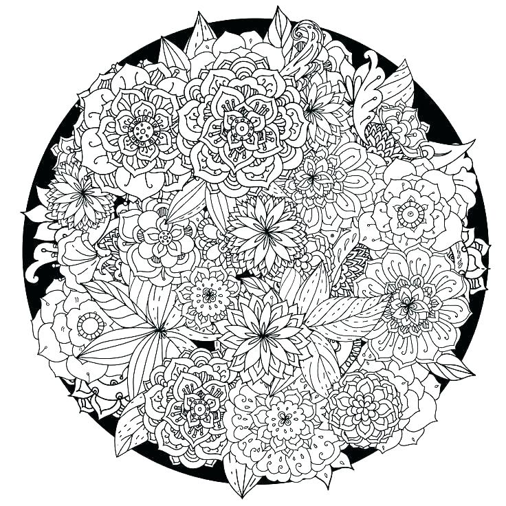 Flower Mandala Coloring Pages - Best Coloring Pages For Kids | flower mandala coloring pages