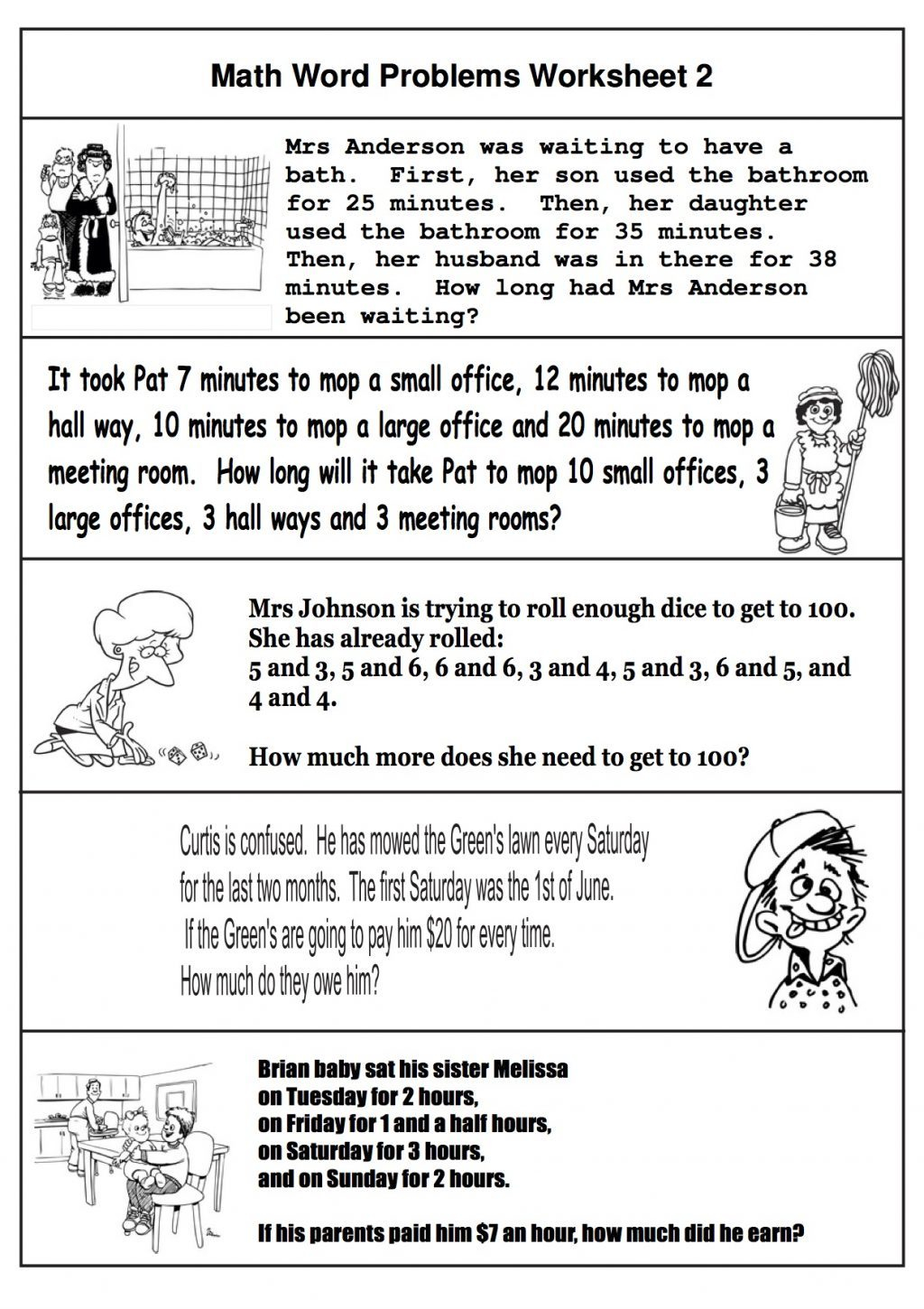 2nd Grade Math Word Problems