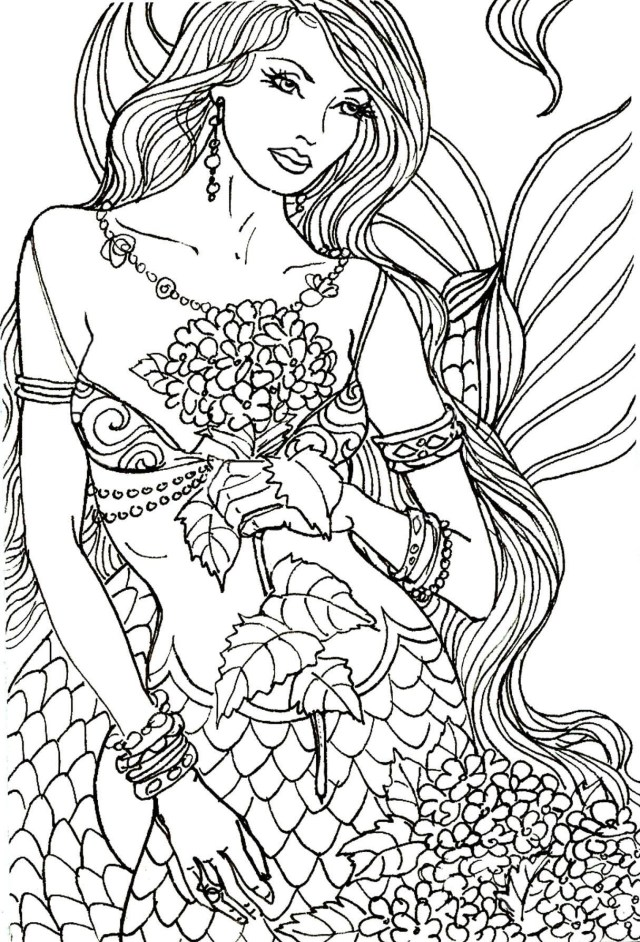 Mermaid Coloring Pages for Adults - Best Coloring Pages For Kids